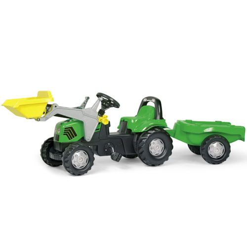 Ride on Tractor Rolly Kid Deutz with trailer and Rolly Kid Loader