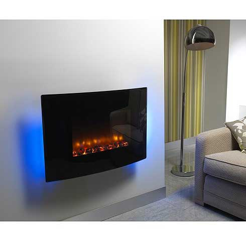 Be Modern Orlando Curved Hang on the Wall Electric Fire