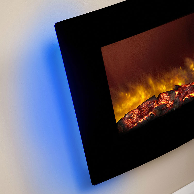 Be Modern Quattro Curved Hang on the Wall Electric Fire