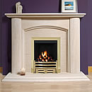 Europa Harrow 54 Limestone Fireplace