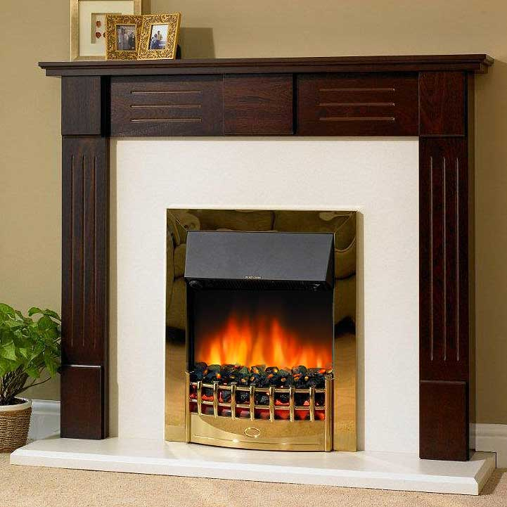 Delta Hatton Electric Fireplace Suite