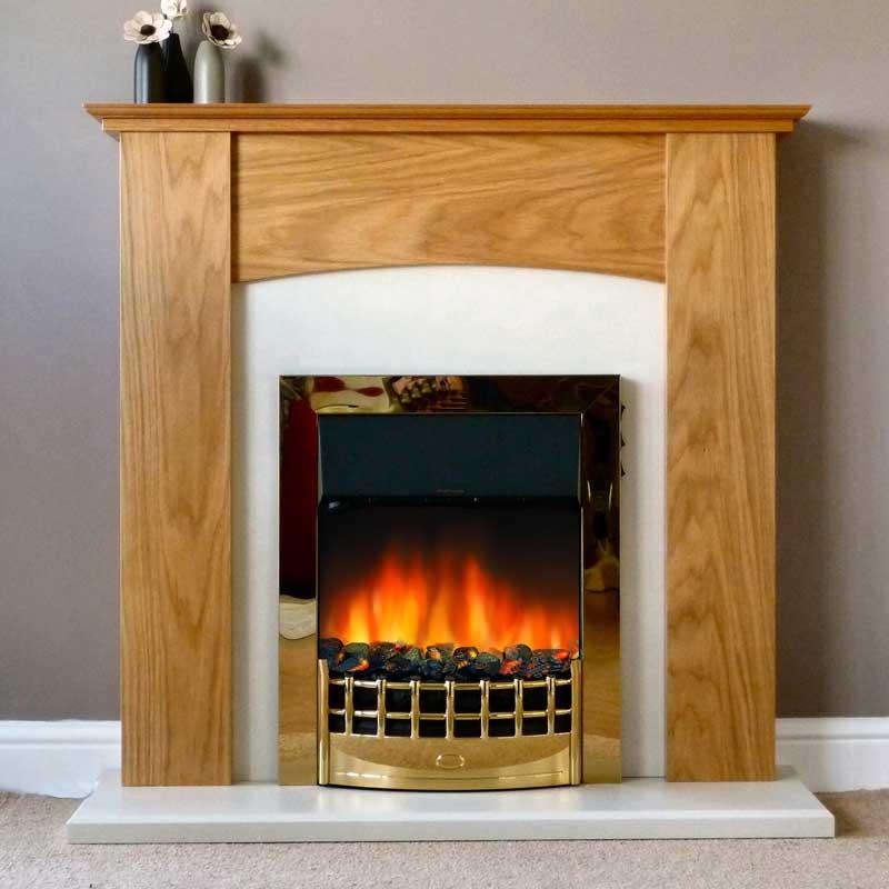 Delta Aston Electric Fireplace Suite