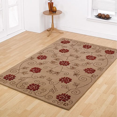 Cavendish Red and Black Polypropylene Rug