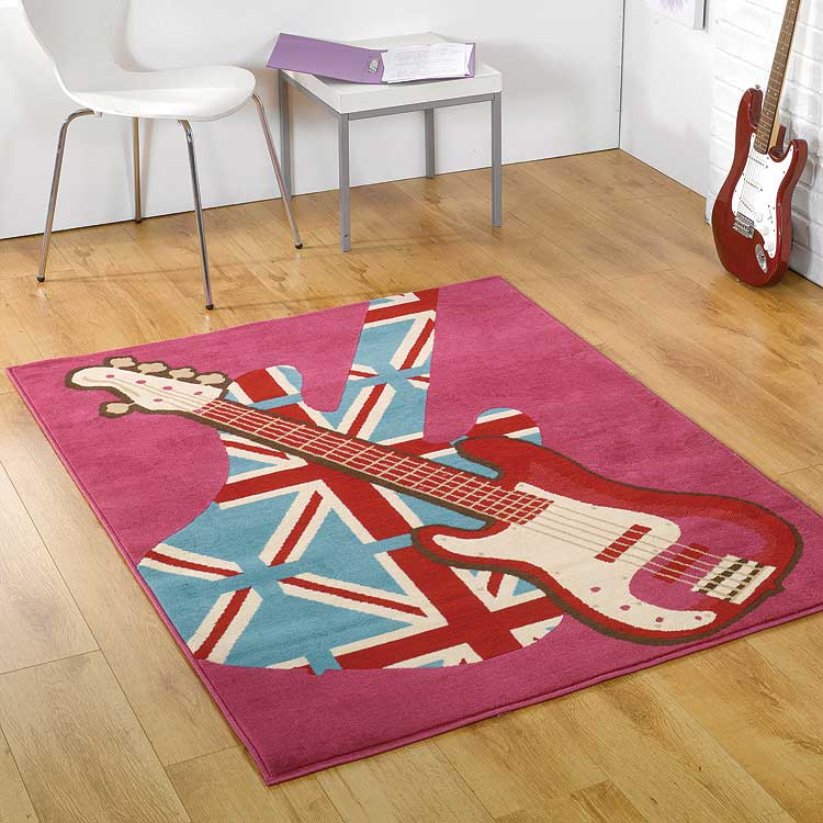 Retro Funky Girls Rock Polypropylene Rug