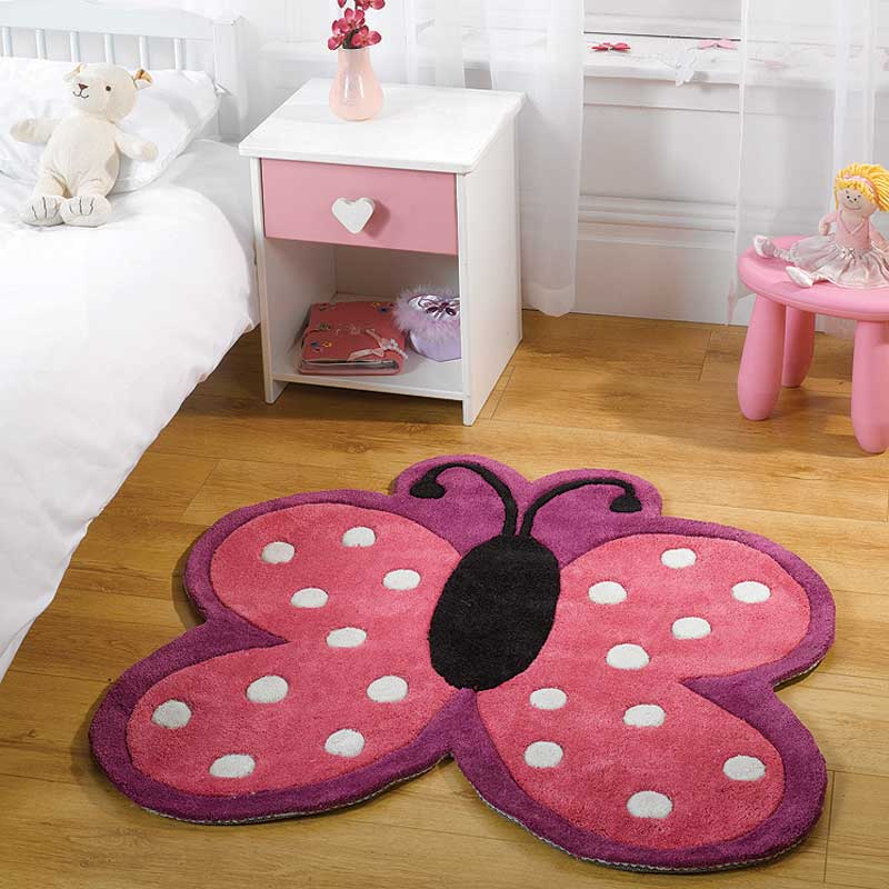 Kiddy Play Polka Butterfly Multi Rug