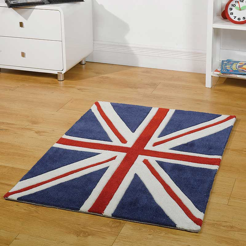 Kiddy Play Mini Jack Red, White and Blue Rug