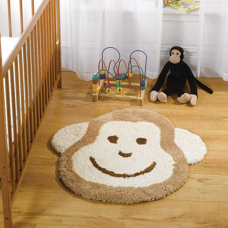 Nursery Cheeky Monkey Natural Rug