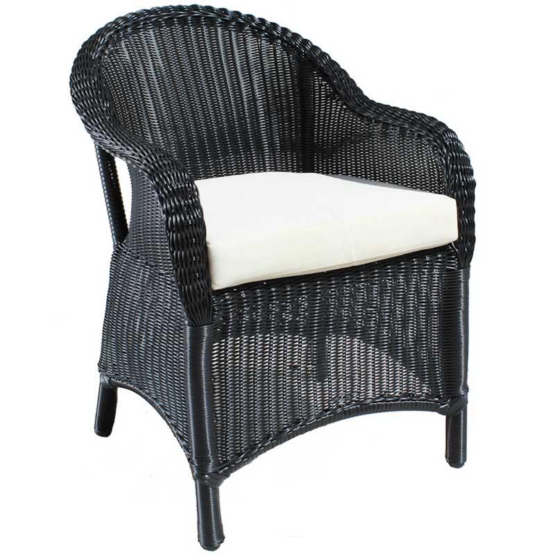 Cozy Bay Sicilia Black Core Weave 4 Seater Set