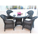 Cozy Bay Sicilia Black Core Weave 4 Seater Set
