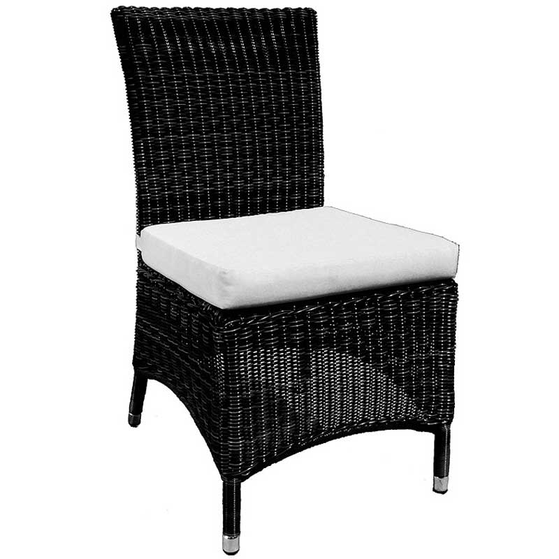 Cozy Bay Barcelona Black Core Weave 4 Seater Set