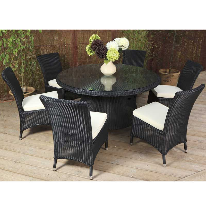 Cozy Bay Barcelona Black Core Weave 6 Seater Set