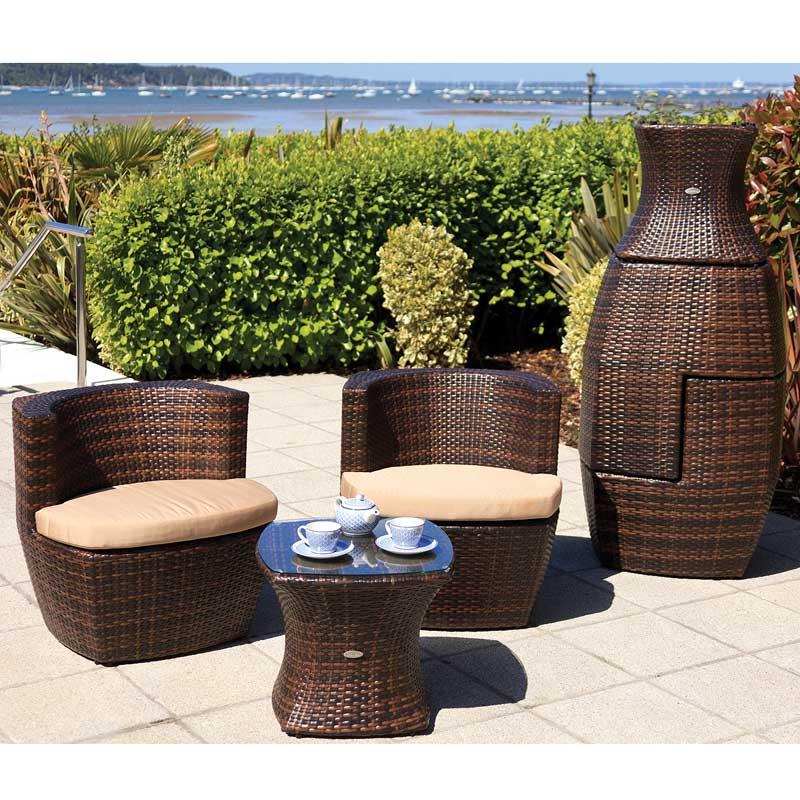 Cozy Bay Provence Square Cappucino 2 Seater Set