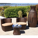 Cozy Bay Provence Square Cappucino 2 Seater Set