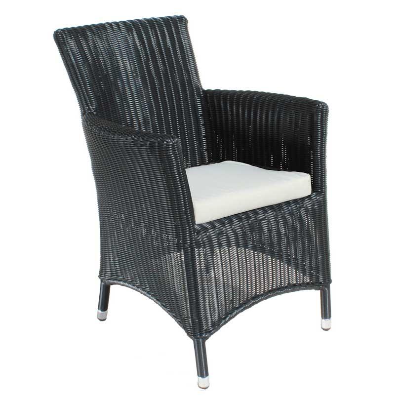 Cozy Bay Hawaii Black Core Weave 6 Seater Set