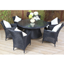 Cozy Bay Hawaii Black Core Weave 6 Seater Set