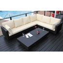 Cozy Bay Chicago Black 6 Seater Set