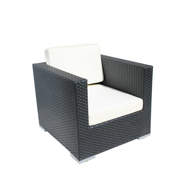 Cozy Bay Oxford Black Super Weave 4 Seater Set