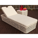Cozy Bay Peble White Sun Lounger