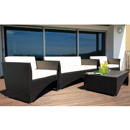 Cozy Bay Milano Black Leather 4-5 Seater Set