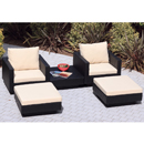 Cozy Bay Chicago Black 2 Seater Lounger Set