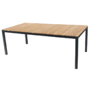 Teak Rectangular Table - Black
