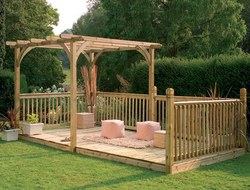 Forest ultima pergola and patio decking kit for Cheap decking kits sale