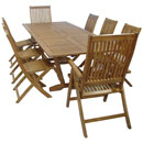 Almeria Automatic Extension Table and 8 Almeria Recliner Chairs