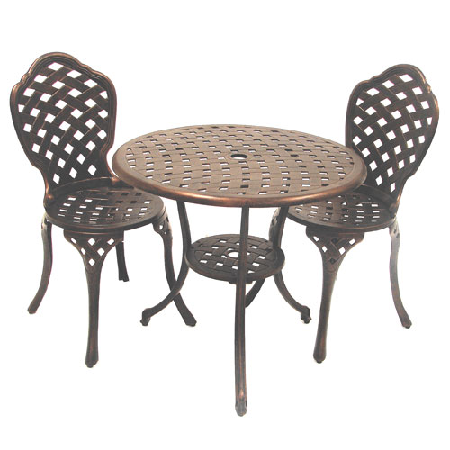 Eclipse Bistro Set with 70cm Table and 2 Chairs