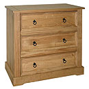 Ponderosa 3 Drawer Chest