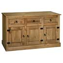 Ponderosa 3 Door, 3 Drawer Sideboard