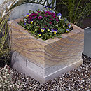 Polished Rainbow Squared Planter