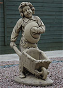 Boy and Barrow Statue