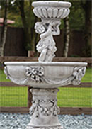 Two Tier Cherub Fountain