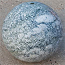 Polished Granite Sphere 450mm - Green