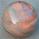 Polished Granite Sphere 450mm - Sunset Red