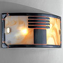 Vetro Wall Light Murano Black-Amber