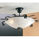 Tamel Ceiling Light Deluxe Black-Gold-Red