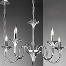 Brescia 5 Arm Chandelier Chrome