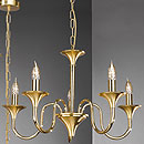 Brescia 5 Arm Chandelier Gold