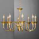 Brescia 8 Arm Chandelier Gold