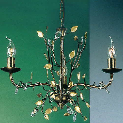 Donatella 3 Arm Chandelier