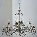 Isabella 12 Arm Chandelier Bronze