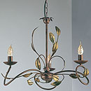 Isabella 3 Arm Chandelier Bronze
