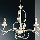 Isabella 3 Arm Chandelier Cream