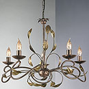 Isabella 5 Arm Chandelier Bronze