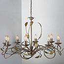 Isabella 8 Arm Chandelier Bronze