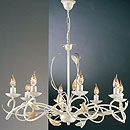 Isabella 8 Arm Chandelier Cream