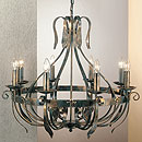 Tamel 8 Arm Chandelier Black-Gold
