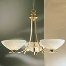 Dorchester 3 Arm Up Light Chandelier Satin Brass