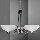 Dorchester 3 Arm Up Light Chandelier Black